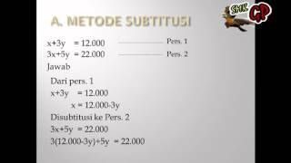 Video Pembelajaran Matematika  Persamaan Linier 2 Variabel ( Learning Video Mathematics)