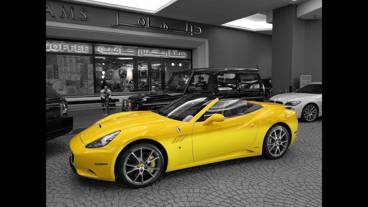 Ferrari California (yellow) - YouTube