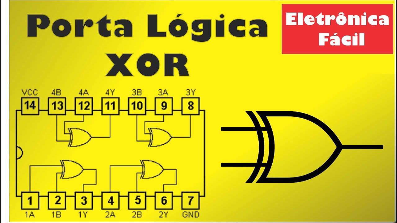 Circuito Xor Equivalente : Eletrônica digital porta lógica xor ou exclusiva circuito