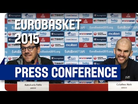 Greece v Belgium - Post Game Press Conference - Re-Live - Eurobasket 2015