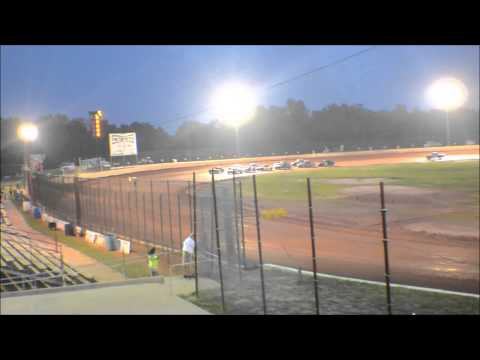 12 year old jordan fowler heat race win golden isles speedway 9-5-15 440 G.I.S show down