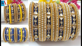 How to make Silk Thread Bangles step by step  | jewellery making | kalpana ambati