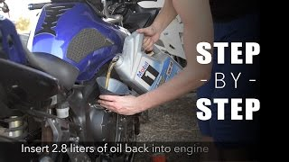 How to Change Oil  Yamaha FZ6  Updated