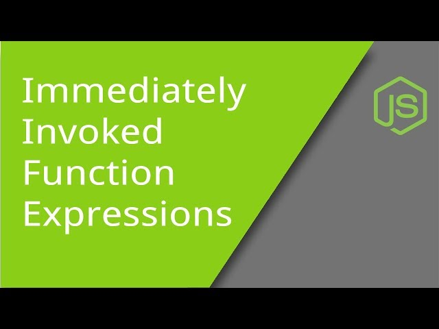 JavaScript IIFE (Immediately Invoked Function Expressions)