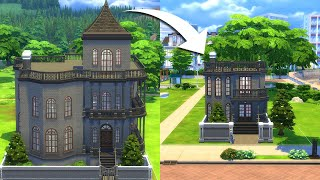 I rebuilt the Goth house in The Sims 4 but... tiny