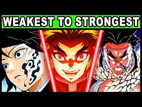 Download All 9 Pillars RANKED from Weakest to Strongest! (Demon Slayer / Kimetsu no Yaiba Every Hashira)