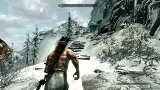 Skyrim - climbing the highest mountain