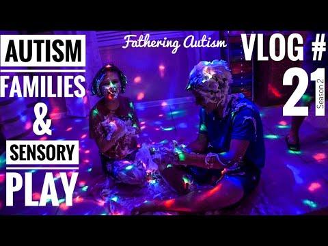 Autism Family Days | Shaving Cream Sensory Play | Fathering Autism Vlog #21