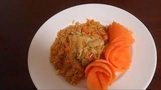 Куриные  крылышки с пастой(орзо).Украшение блюд - цветы из моркови.