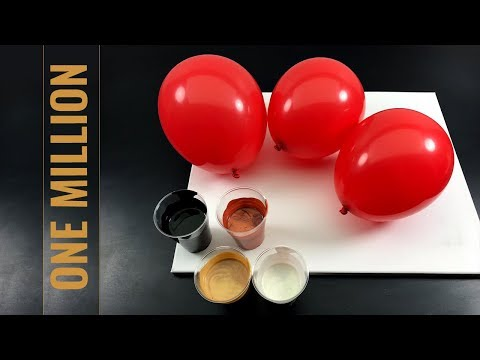 One Million Dollar - Fluid Painting - BALLON DIPPING DELUXE - With Nacre, Cooper And Fluid Gold