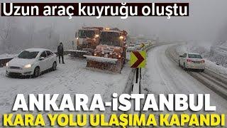 Karla Kaplanan Yolda Tır Kaydı: Ankara-İstanbul Karayolu Trafiğe Kapandı