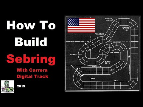 How to build a 1 32 scale Carrera 4 Lane Digital Sebring  Race Track