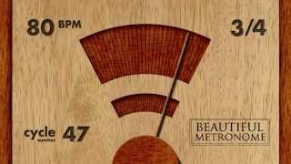 80 BPM 3/4 Wood Metronome HD
