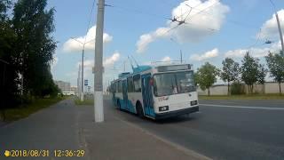 Витебск.Поездка на троллейбусе №2 м-он Фрунзе  - Смоленский рынок
