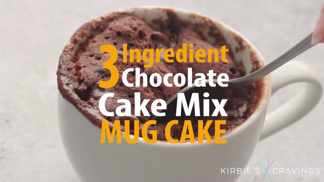 3 Ingredient Chocolate Cake Mix Mug Cake Youtube