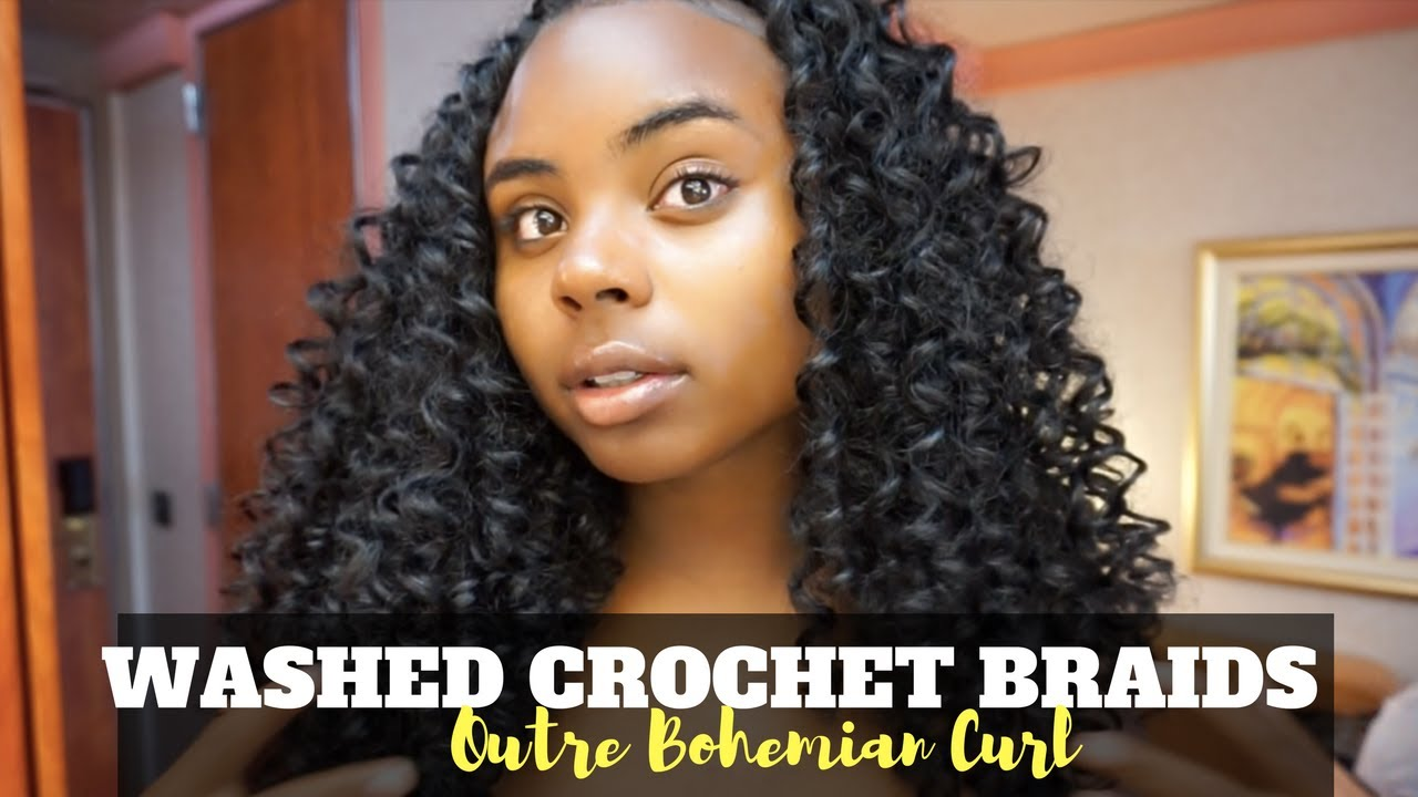 How I Wash My Crochet Braids After Swimming Outre Bohemian Curl