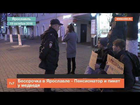 Бессрочка в Ярославле - Пенсионатор и пикет у медведя