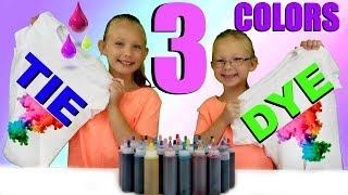 3 COLOR TIE DYE CHALLENGE!!!!