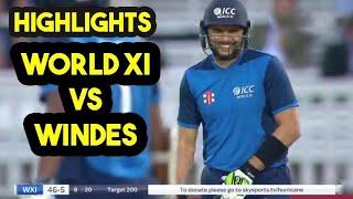 west Indies vs world xi full match highlights 2018