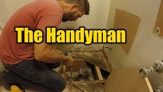 1940s Bathroom Remodel | Rotten Sub Floor | THE HANDYMAN |