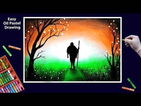 Independence Day Drawing By Oil Pastel Step By Step    Republic Day Drawing