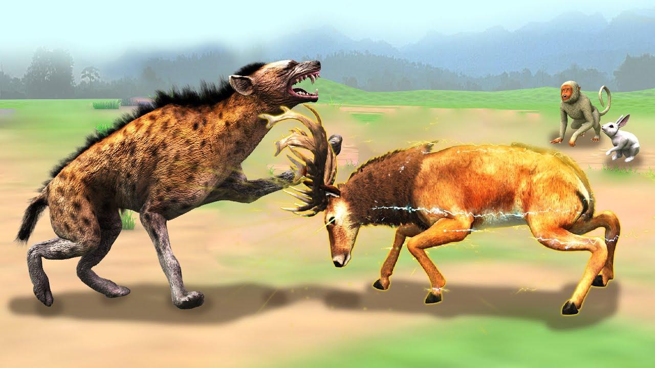 जादुई हिरण और गामंडी लकड़बग्घा Magical Deer  Gamandi Hyena Hindi Kahaniya हिंदी कहनिया Hindi Stories