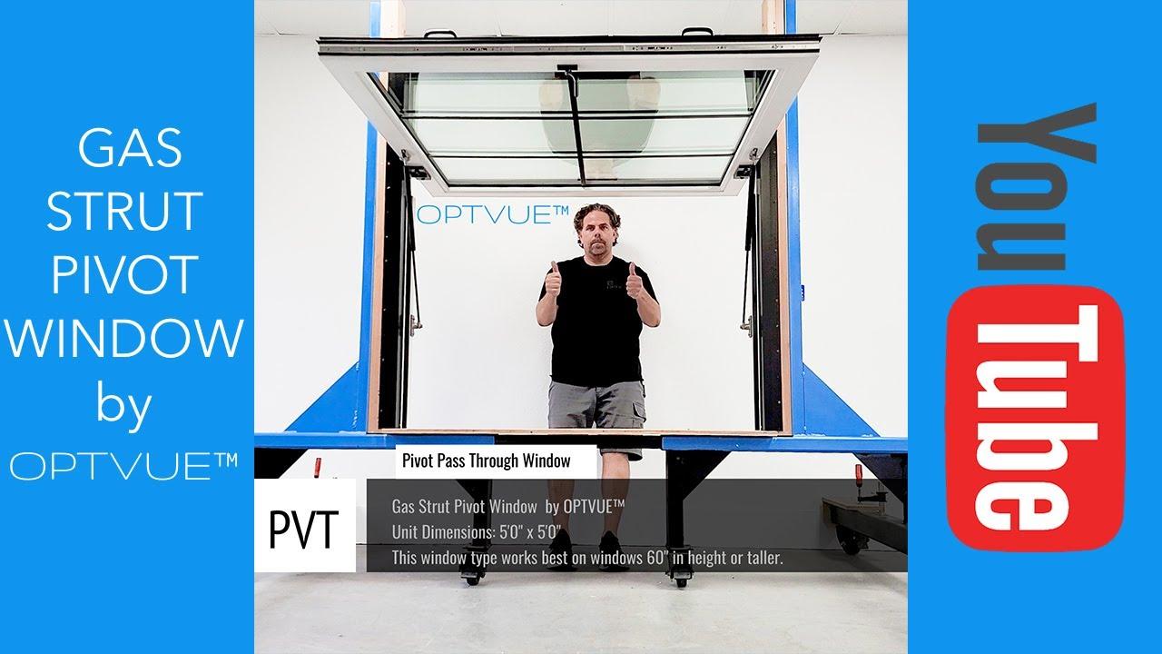 Gas Strut Pivot Window by OPTVUE™