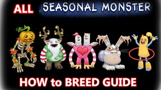 My Singing Monsters HowToBreed ALL SEASONAL MONSTERS (Punkleton, Yool, Schmoochle, Blabbit, Hoola)