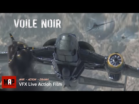 "Live Action CGI VFX Animated Short ""VOILE NOIR"" War Adventure Film by ArtFx"