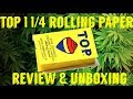 FULL MELT FUSION'S - TOP 1 1/4 OR 79mm ROLLING PAPERS REVIEW & UNBOXING