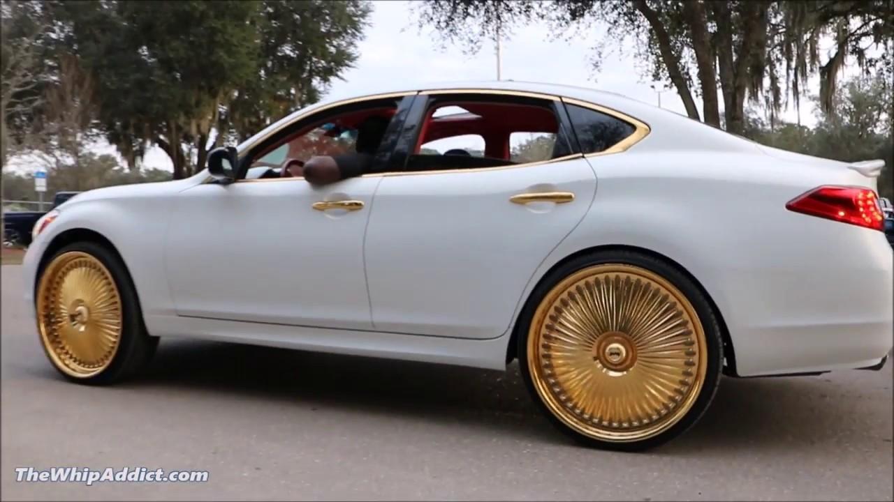 Whipaddict 2012 Infiniti M37 On All Gold Dub Bellagio 26s