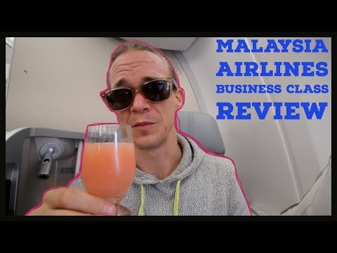 Malaysia Airlines Airbus A350-900  Business Class Review - (Bought with Bitcoin)