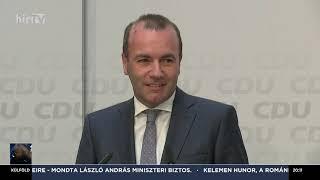 Európai parlamenti választás - Manfred Weber sajtótájékoztatója - HÍR TV