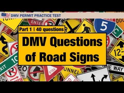 Driving License Test DMV Questions Of Road Signs Part 1