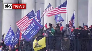 US Capitol building in lockdown as Trump supporters clash with police