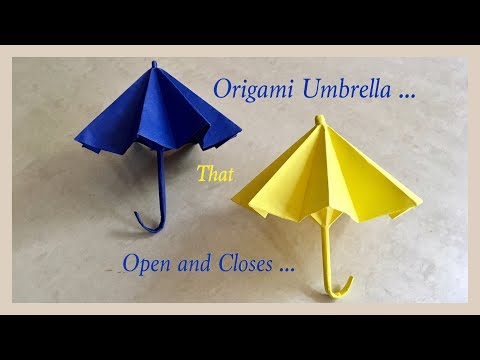 Origami Umbrella That Open And Closes / DIY / Origami Umbrella 🌂 | Priti Sharma