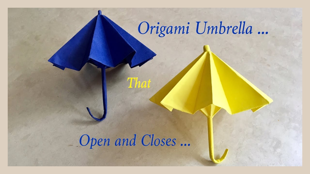 origami umbrella that open and closes diy origami