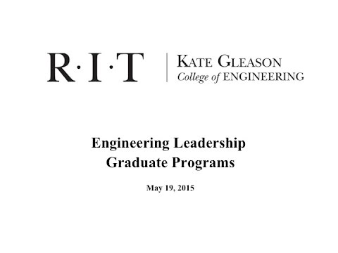 Engineering Leadership  - An Overview of Programs at RIT