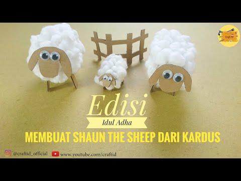 HOW TO MAKE SHAUN THE SHEEP DOLL - TUTORIAL MEMBUAT BONEKA SHAUN THE SHEEP DARI BAHAN SEDERHANA