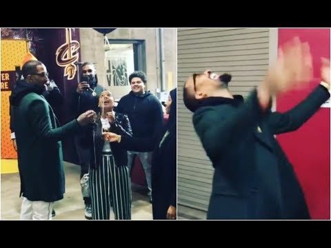 JR Smith & his wife do gender reveal of their new baby in front of teammates