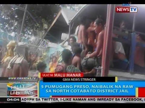 158 na preso sa North Cotabato District   Jail, tumakas