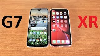 Motorola Moto G7 Vs iPhone XR Speed Test