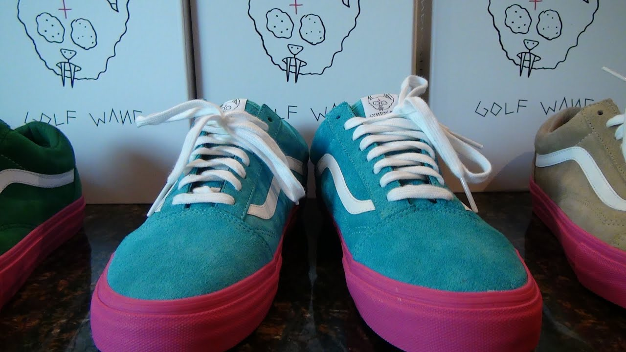 Odd Future Golf Wang X Vans Syndicate Old Skool Pro Blue - YouTube 2297cf6bb