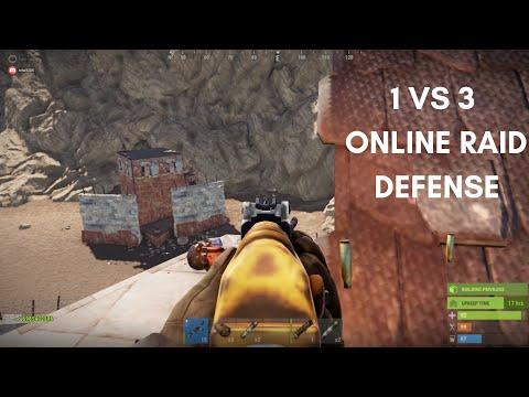 ONLINE RAID DEFENSE 1 vs 3! | Vanilla Rust thumbnail