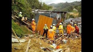 Gestión del Riesgo se compromete con afectados por deslizamiento en Marquetalia, Caldas