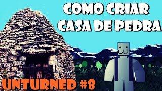 Como criar casa de pedra no Unturned #8