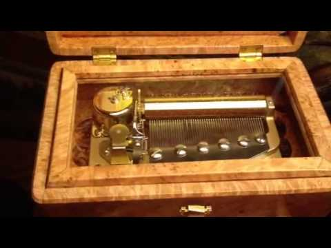 Allies Maple Burl 50 Note Sankyo Music Box