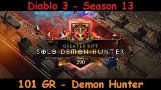 101 Solo Greater Rift - Demon Hunter - Season 13 EU - Diablo 3