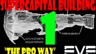 EVE Online - Building TITANS, SUPERCARRIERS and CAPITAL SHIPS - The PRO Way - Part 1