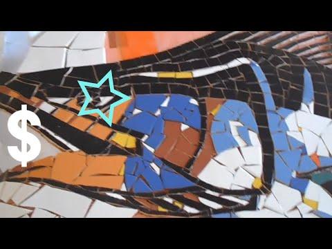 MOSAIC ART MURAL // ART VLOG